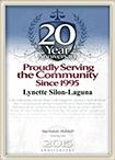 20 Year Anniversary Digital Plaque Lynette